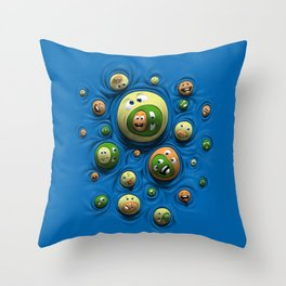 Emoticontagious Throw Pillow