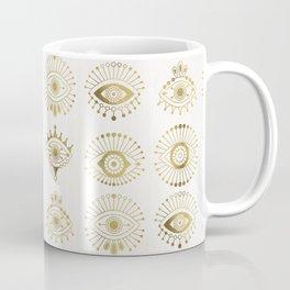 Evil Eyes – Gold Palette Coffee Mug