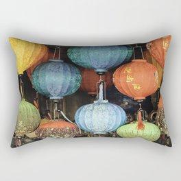 Colorful Vietnamese Lanterns Rectangular Pillow
