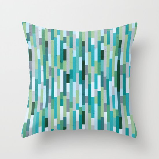 City by the Bay, Rainy Bay Day Throw Pillow by Designer Ham Society6