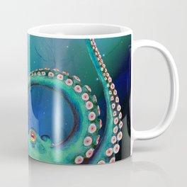 Teal Octopus Nebula Dance Coffee Mug