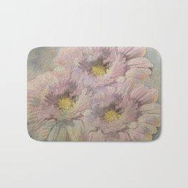 Soft Painted Daisies Abstract Bath Mat