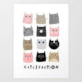 Catisfaction No. 1 Art Print