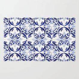 Azulejo V - Portuguese hand painted tiles Rug