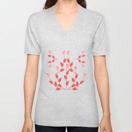 Pink floral fantasy Unisex V-Neck