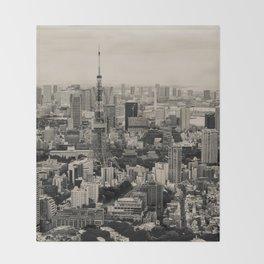 Sepia Tokyo Throw Blanket