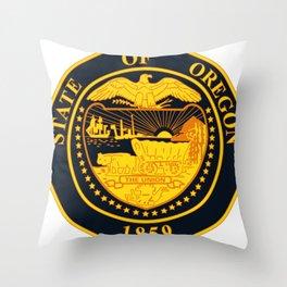 State of Oregon seal Throw Pillow