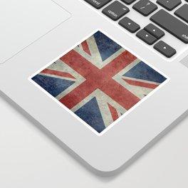 England's Union Jack, Dark Vintage 3:5 scale Sticker
