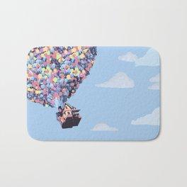 disney pixar up.. balloons and sky with house Bath Mat
