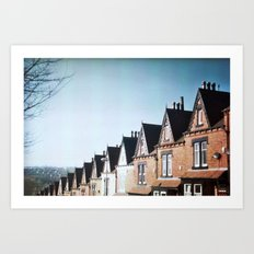 Terrace Houses Art Print