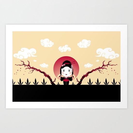 Geisha2 Art Print