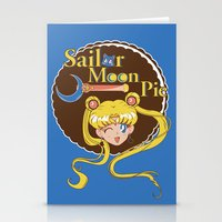 pie Stationery Cards featuring Moon Pie by Ashley Hay