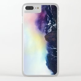 Mountain of Color Fog Clear iPhone Case