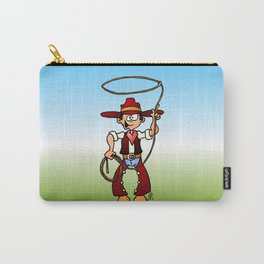 Cowboy with a lasso Carry-All Pouch