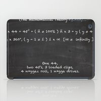 lebron iPad Cases featuring The Mathematical Theory of war by SaintCastro