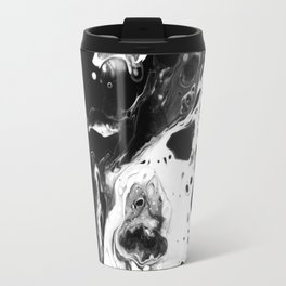 Monochrome Lava Flow Travel Mug