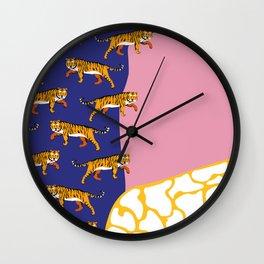 pinktiger Wall Clock