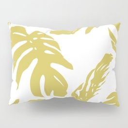 Simply Mod Yellow Palm Leaves Pillow Sham