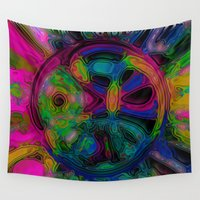 simba Wall Tapestries featuring Rainbow Sun by Synesthetic