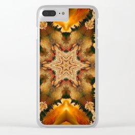 Autumn Star Mandala Clear iPhone Case