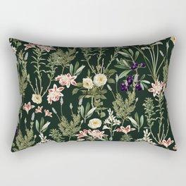 Dark Botanical Garden #society6 #natureart #pattern Rectangular Pillow