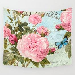 Vintage Flowers #2 Wall Tapestry