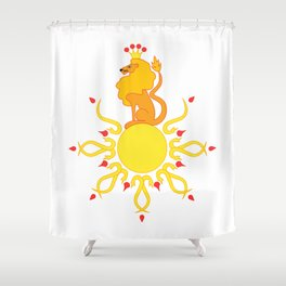 The Sun King Shower Curtain