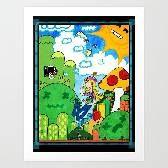 Shroom Kingdom Art Print