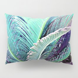 Palms (Teal and purple) Pillow Sham