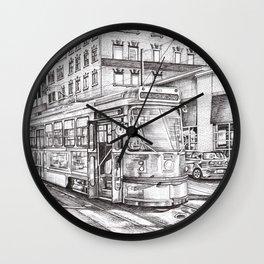 Spadina King (black and white) Wall Clock
