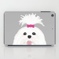 shih tzu iPad Cases featuring Pima - Shih Tzu cute white funny dog art customizable gift for dog person dog lovers pet art by PetFriendly