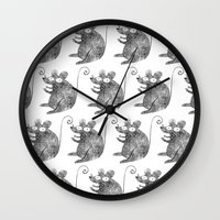 mouse Wall Clocks featuring Mouse by Hayley Wells