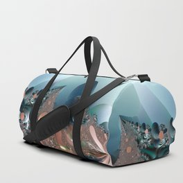 Hiding in a Fantasy Waterworld -- Fractal art by Twigisle at Society6 Duffle Bag