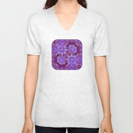 Hydrangea Paisley Abstract Unisex V-Neck