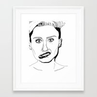 miley Framed Art Prints featuring Miley  by ☿ cactei ☿