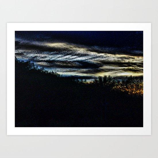 Thursday 11 October 2012: Each Inch Tinges Me Art Print