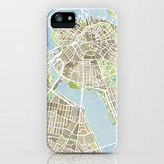 Boston Sepia Watercolor Map iPhone (5, 5s) Slim Case