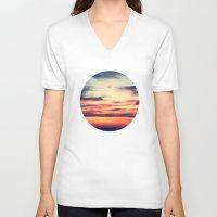 sunset V-neck T-shirts featuring Sunset by JoanaRosaC