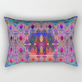 Bead Curtain Psychedelic Rectangular Pillow
