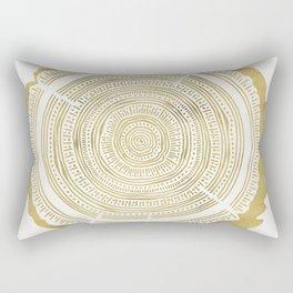 Douglas Fir – Gold Tree Rings Rectangular Pillow