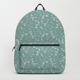 Whale Tails Pattern Backpack