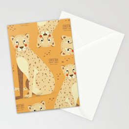 Cheetah, African Wildlife Stationery Cards