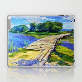 Wooden bridge Laptop & iPad Skin