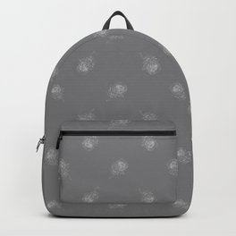 King Protea Outline - Grey and White Backpack