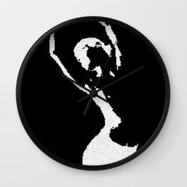 nude bw Wall Clock