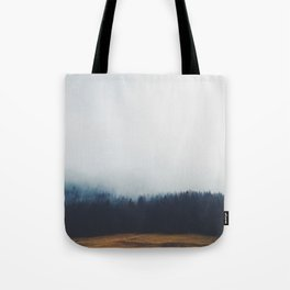 Dreary Landscape forest Tote Bag