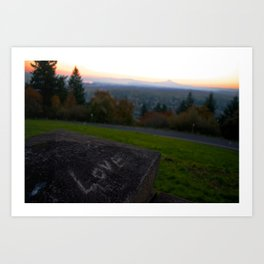 Love at Sunrise Over Mt. Hood Art Print