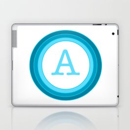 Blue letter A Laptop & iPad Skin