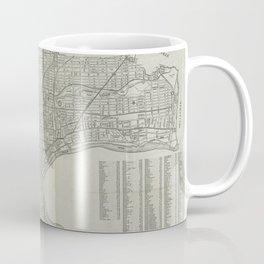 Vintage Map of Newark NJ (1920) Coffee Mug