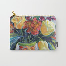 HAPPY BIRTHDAY FLOWERS Carry-All Pouch